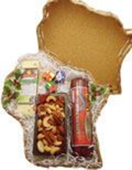 Picture of Wisconsin Cheese, Sausage, Nut Basket -TEMPORARILY OUT OF STOCK