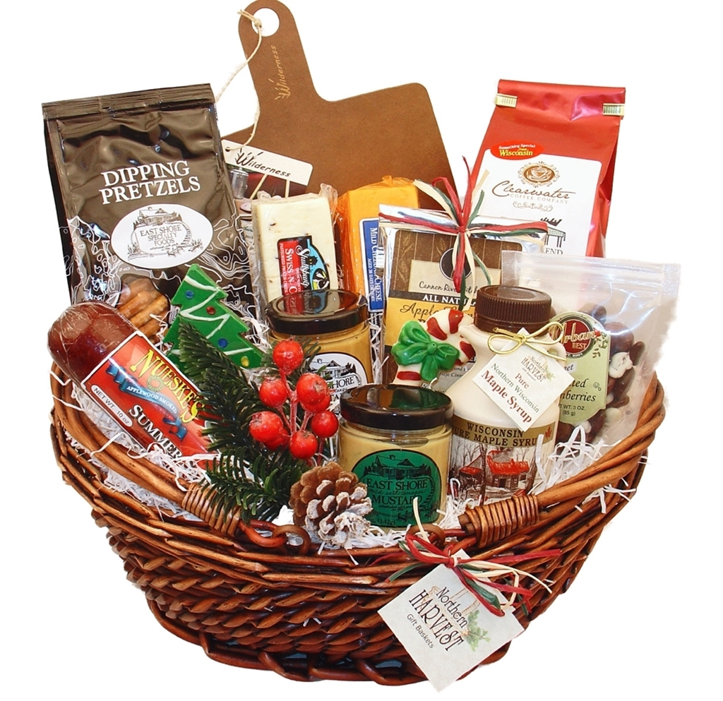 Wisconsin Gifts For Sharing Christmas Basket - Northern Harvest Gift ...