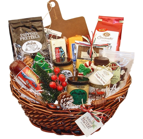 Picture of Wisconsin Gifts For Sharing Christmas Basket