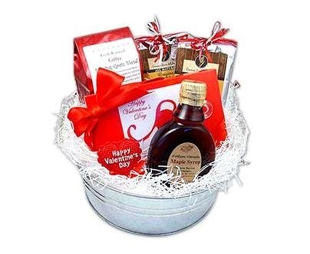 Picture of By My Valentine Breakfast Gift Bucket