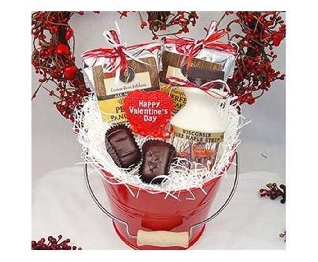 Picture of Valentines Breakfast for Two Gift Bucket